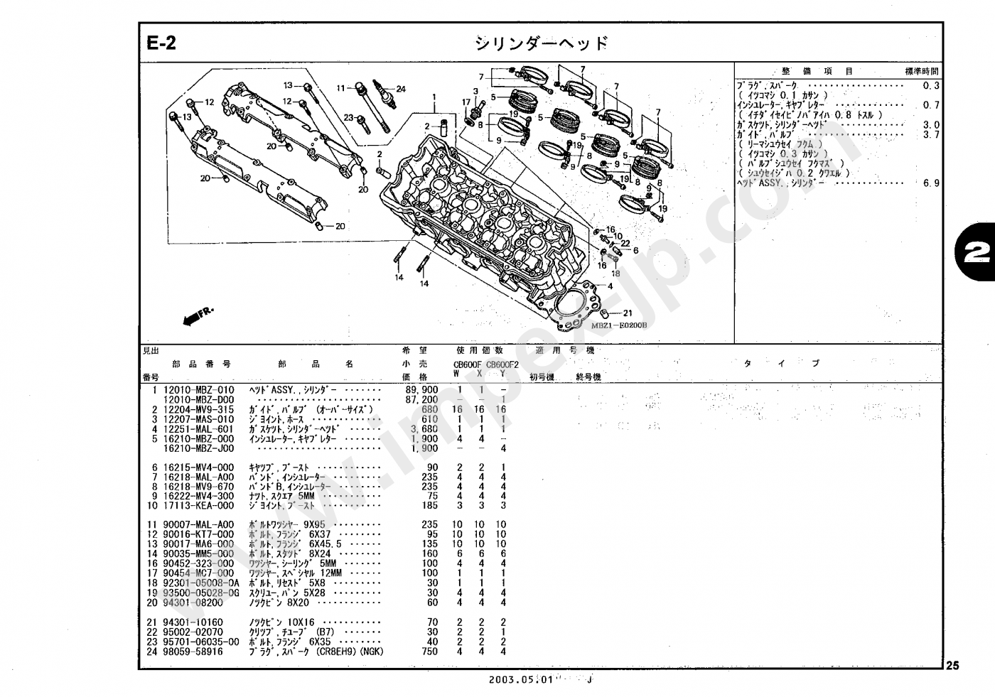 Hornet 600 98-04 Centauro 62430 Joint d/échappement pour CB 500 CBR 600 87-05 MP3 400