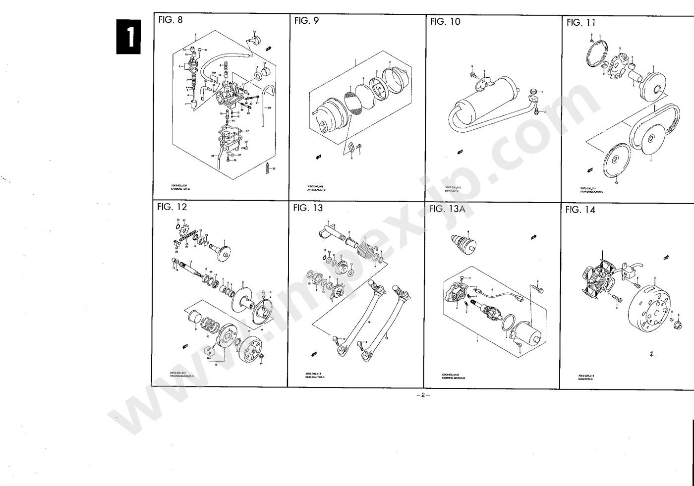 Motorcycle Parts Suzuki Choi Nori X5 Cz41a Impex Japan Engine Diagram
