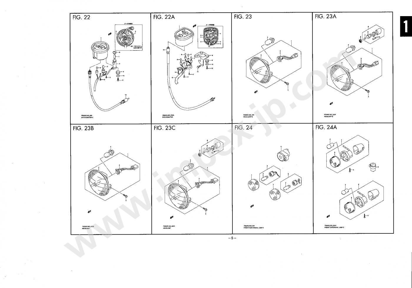 motorcycle parts suzuki birdie 50 fb50 ba42a ba43a impex japan rh en impex jp com