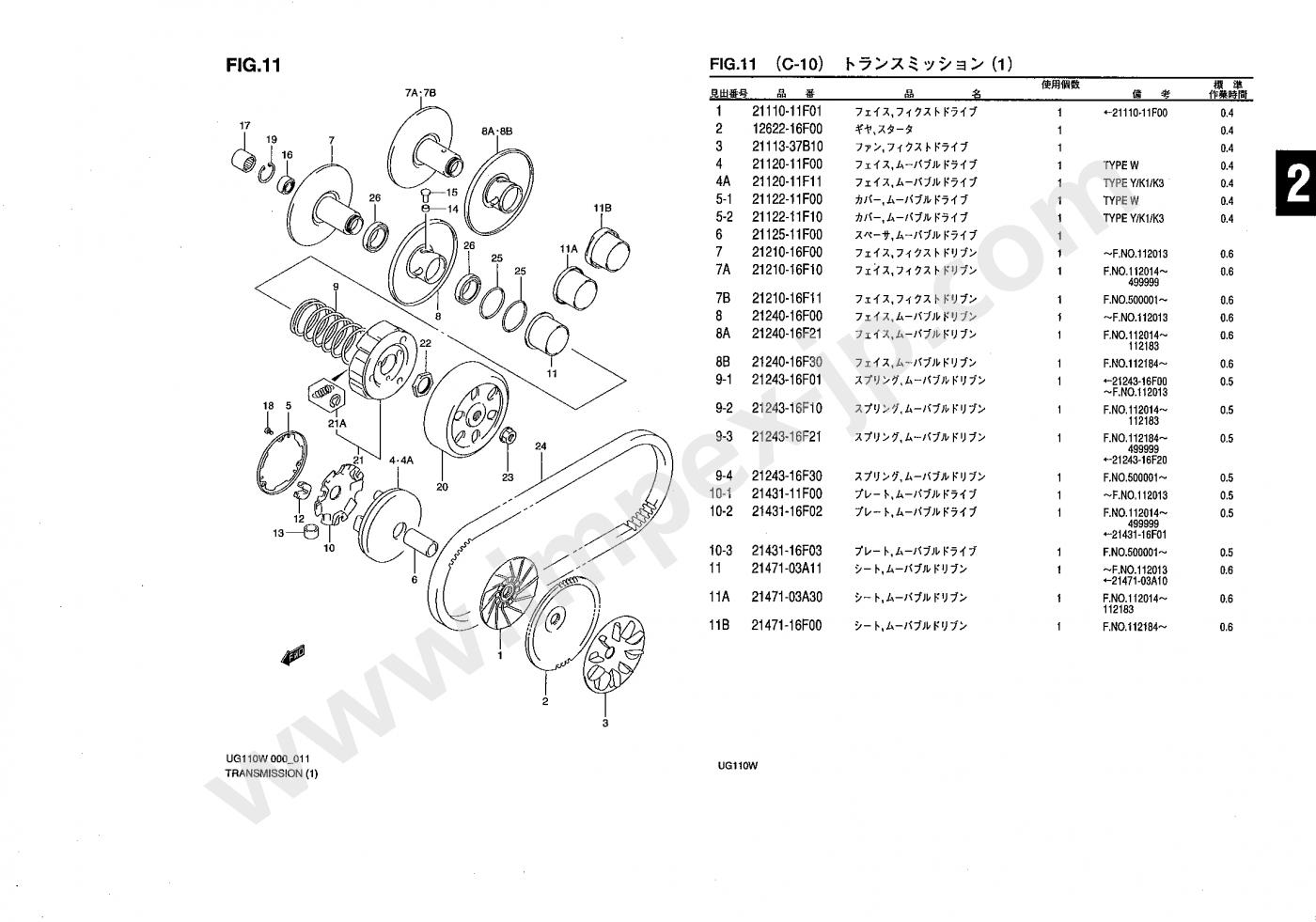 Motorcycle Parts Suzuki Address 110 Ug110 Cf11a Impex Japan Toyota 16842 Wiring Harness
