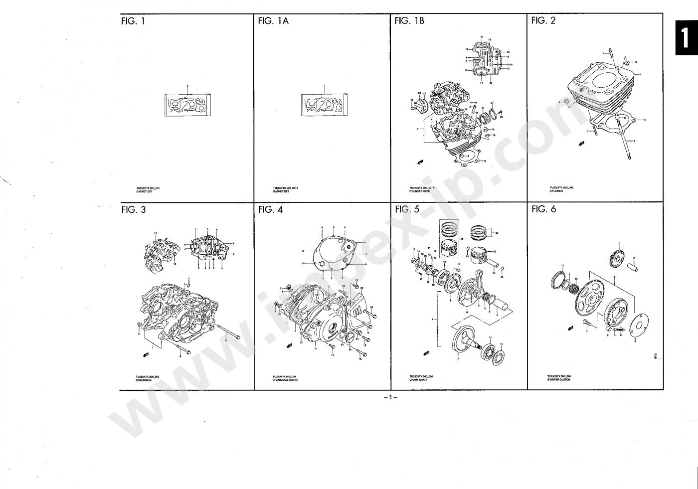 Motorcycle parts suzuki volty tu250
