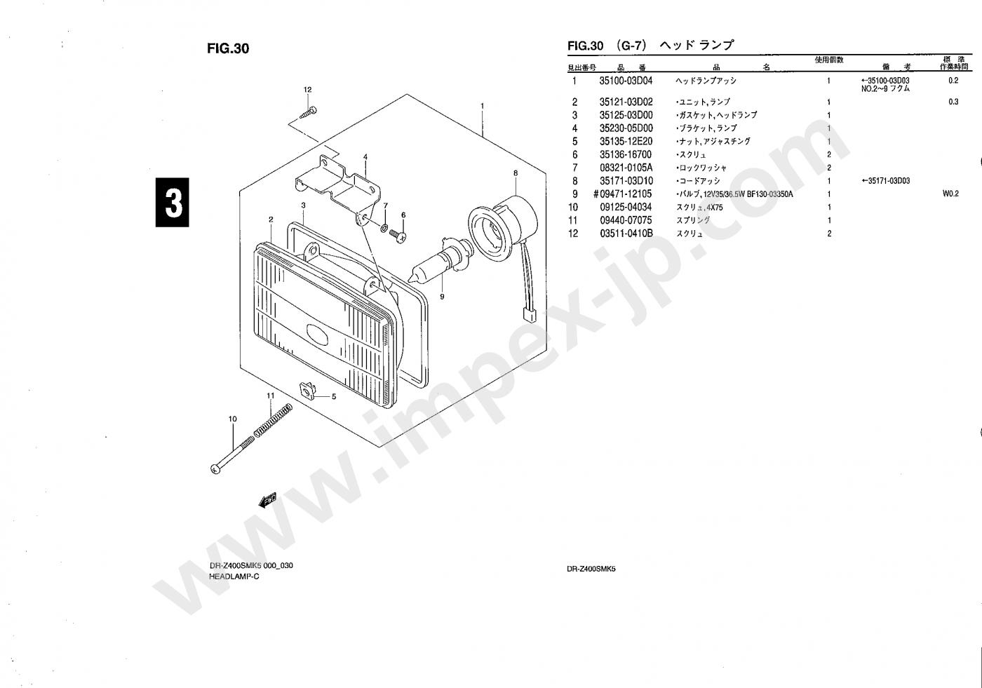 Motorcycle Parts Suzuki Dr Z400sm Sk44a Impex Japan Honda Bf130 Wiring Diagram